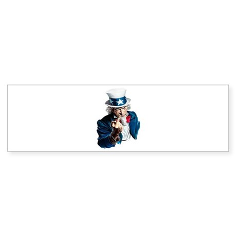 Uncle Sam Middle Finger Bumper Sticker