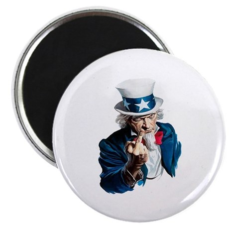 Uncle Sam Middle Finger Magnet