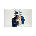Uncle Sam Middle Finger Rectangle Magnet