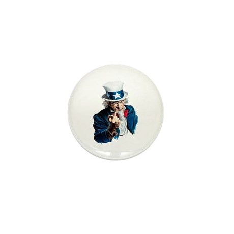 Uncle Sam Middle Finger Mini Button
