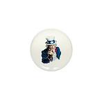 Uncle Sam Middle Finger Mini Button
