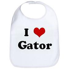 I Love Gator Bib
