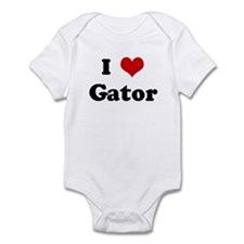 I Love Gator Infant Bodysuit