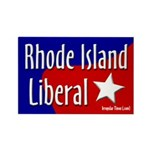 Rhode Island Liberal Rectangle Magnet