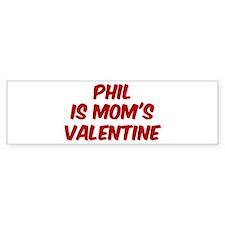 Phils is moms valentine Bumper Sticker (50 pk)