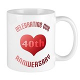 40th Anniversary Heart Gift Mug