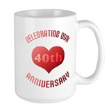 40th Anniversary Heart Gift  Tasse