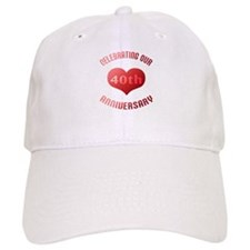 40th Anniversary Heart Gift Baseball Cap