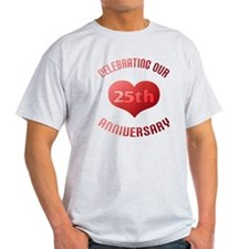 25th Anniversary Heart Gift T-Shirt