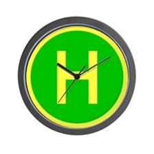 Helicopter landing pad wall clock