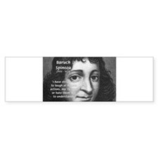 Philosopher Baruch Spinoza Bumper Bumper Sticker