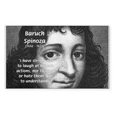 Philosopher Baruch Spinoza Rectangle Decal