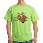Nolan broke my heart and I hate him Green T-Shirt