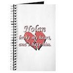 Nolan broke my heart and I hate him Journal