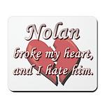 Nolan broke my heart and I hate him Mousepad