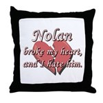 Nolan broke my heart and I hate him Throw Pillow
