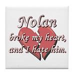 Nolan broke my heart and I hate him Tile Coaster