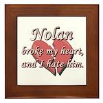 Nolan broke my heart and I hate him Framed Tile
