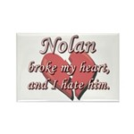 Nolan broke my heart and I hate him Rectangle Magn