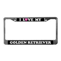 Golden Retriever License Plate Frames
