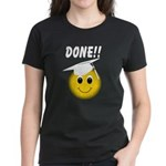 GraduationSmiley Face Women's Dark T-Shirt