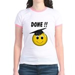 GraduationSmiley Face Jr. Ringer T-Shirt