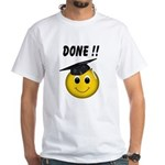GraduationSmiley Face White T-Shirt