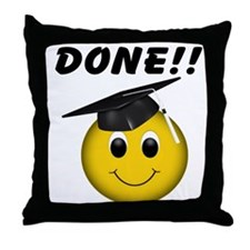 GraduationSmiley Face Throw Pillow