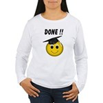GraduationSmiley Face Women's Long Sleeve T-Shirt