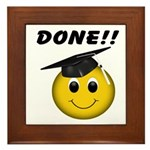GraduationSmiley Face Framed Tile