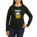 GraduationSmiley Face Women's Long Sleeve Dark T-S