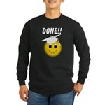 GraduationSmiley Face Long Sleeve Dark T-Shirt