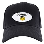 GraduationSmiley Face Black Cap