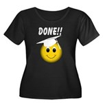 GraduationSmiley Face Women's Plus Size Scoop Neck