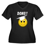 GraduationSmiley Face Women's Plus Size V-Neck Dar
