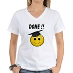 GraduationSmiley Face Women's V-Neck T-Shirt