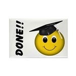 GraduationSmiley Face Rectangle Magnet (10 pack)