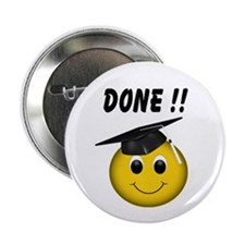 "GraduationSmiley Face 2.25"" Button (100 pack)"
