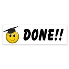 GraduationSmiley Face Bumper Sticker (10 pk)