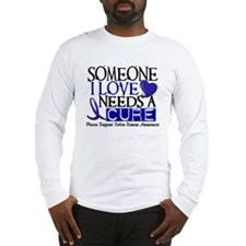 Needs A Cure COLON CANCER Long Sleeve T-Shirt