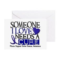 Needs A Cure COLON CANCER Greeting Card