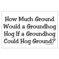 Groundhog Large Poster