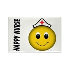 Smiley Nurse Rectangle Magnet