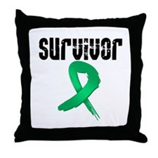 Liver Cancer Survivor Throw Pillow