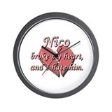 Nico broke my heart and I hate him Wall Clock