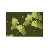 Ginkgo Leaves Rectangle Magnet