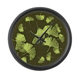 Ginkgo Leaves Large Wall Clock