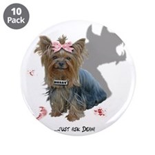 "Hell Hound Puppy 3.5"" Button (10 pack)"