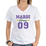 Mardi Gras 09 Women's V-Neck T-Shirt