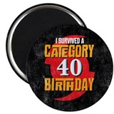 Category 40 Birthday Magnet
